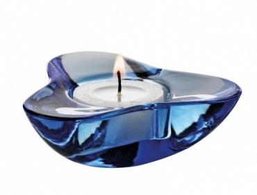 Svícen pro čajovou svíčku Aura, modrý