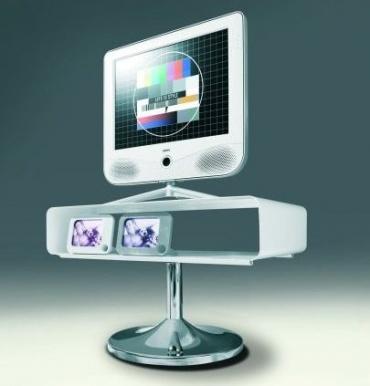 Univerzální stolek Flash, bílý