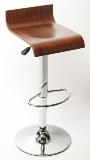Barová židle Shape, sedák přírodní dýha