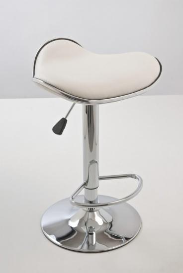 Barové židle Lega bez opěráku - SET 2 ks, bílá