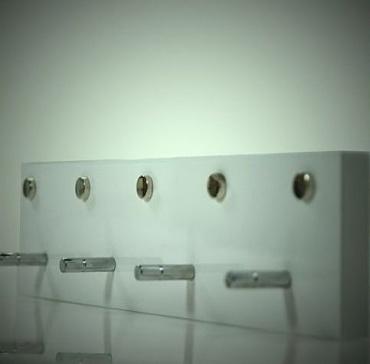 Věšák na šaty / klíče Akcent, 4 háčky