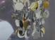 Závěsný lustr z přívěšků Farao, stříbrný