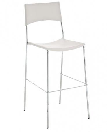 Barové židle Luone - SET 2 ks, bílá