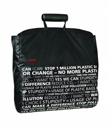 Nákupní taška Shopper, černá / prohlášení