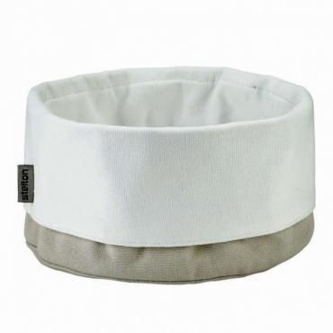 Taška na pečivo Classic, písková / bílá