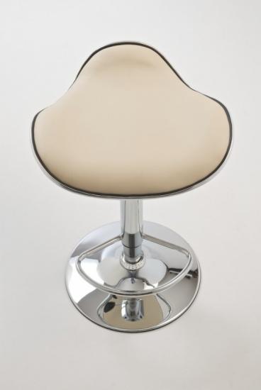 Barové židle Lega bez opěráku - SET 2 ks, krémová