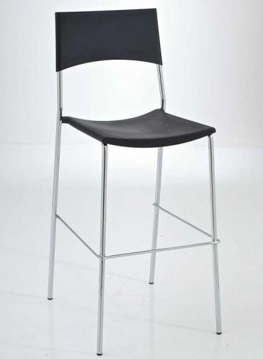 Barové židle Luone - SET 2 ks, černá