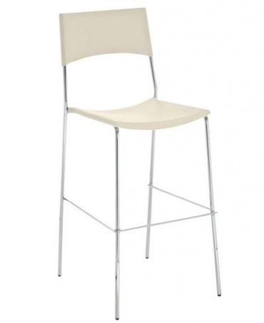 Barové židle Luone - SET 2 ks, krémová