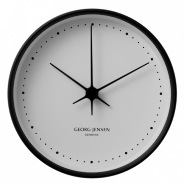 Hodiny Koppel, 10 cm, černá/bílá