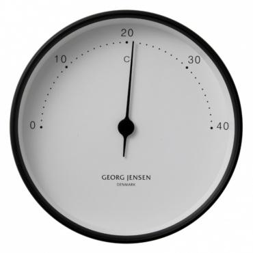 Teploměr Koppel, 10 cm, černá/bílá