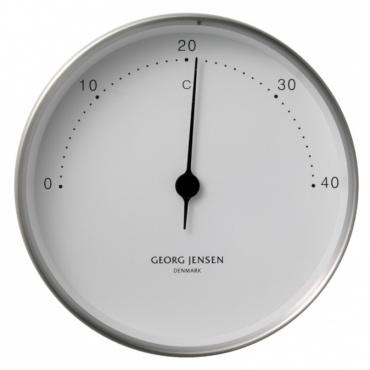 Teploměr Koppel, 10 cm, nerez/bílá