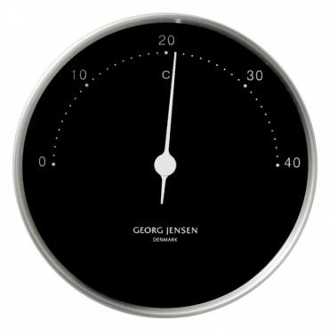 Teploměr Koppel, 10 cm, nerez/černá