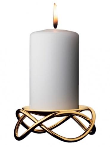 Vánoční svícen Glow, žluté zlato