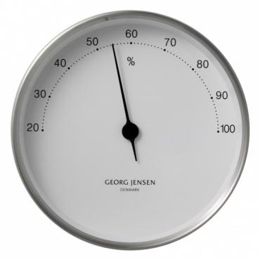 Vlhkoměr Koppel, 10 cm, nerez/bílá