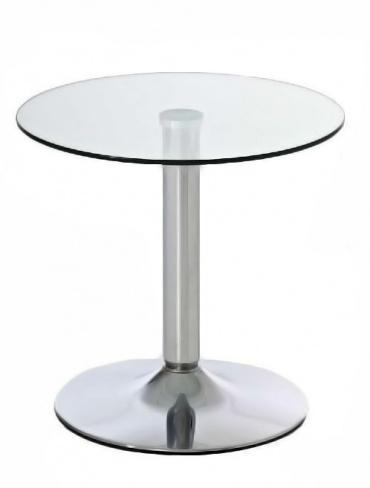 Konferenční stolek skleněný kulatý Houly, průměr 50 cm