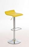 Barové židle Marlon - SET 2 ks, žlutá