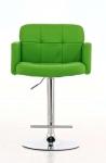 Barová židle Pompe - SET 2 ks, zelená