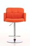 Barová židle Pompe - SET 2 ks, oranžová