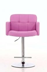 Barová židle Pompe, látkový potah, černá