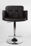 Barová židle Pompe, látkový potah, hnědá