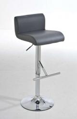 Barová židle Helios - SET 2 ks, šedá