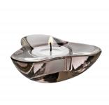 Svícen pro čajovou svíčku Aura, hnědý