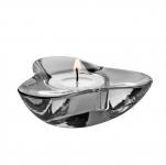 Svícen pro čajovou svíčku Aura, tmavě šedý