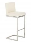 Barová židle s nerezovou podnoží Taje, krémová