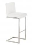 Barová židle s nerezovou podnoží Taje, bílá