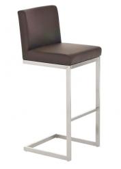 Barová židle s nerezovou podnoží Taje, hnědá