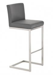Barová židle s nerezovou podnoží Taje, šedá