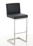Barová židle s nerezovou podnoží Taje, černá