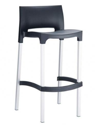 Barová židle Bibiano, černá