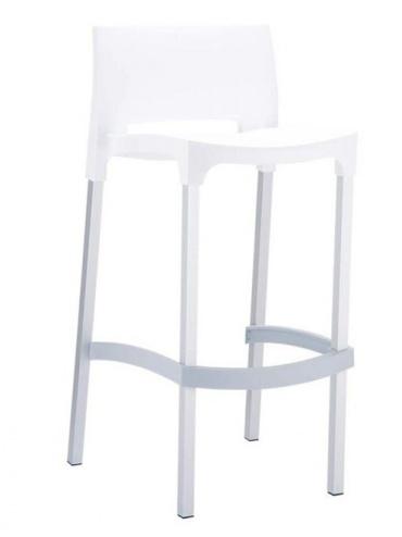 Barová židle Bibiano, bílá