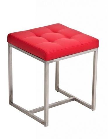 Stolička s nerezovou podnoží Agnes, červená