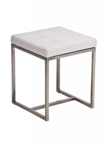Stolička s nerezovou podnoží Agnes, bílá