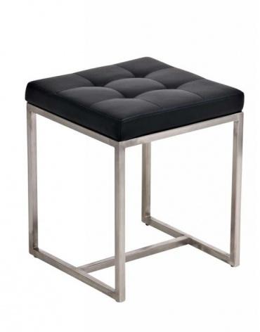 Stolička s nerezovou podnoží Agnes, černá