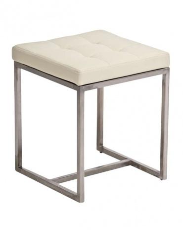Stolička s nerezovou podnoží Agnes, krémová