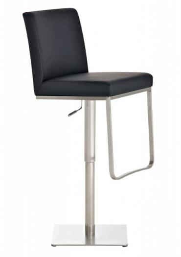 Barová židle s nerezovou podnoží Winnie, černá