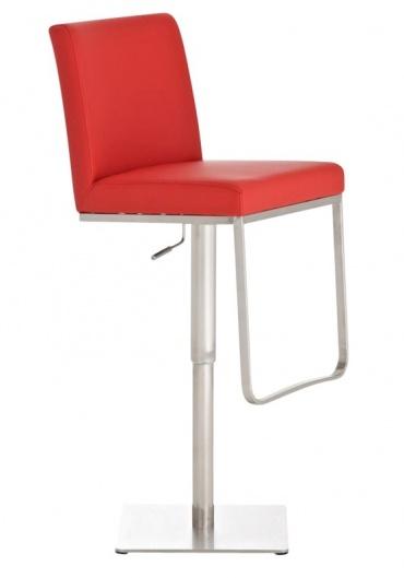 Barová židle s nerezovou podnoží Winnie, červená