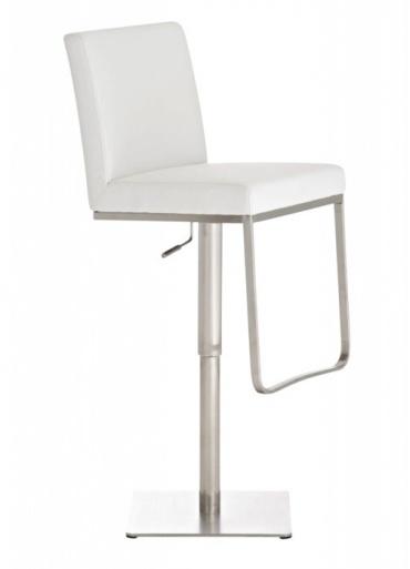Barová židle s nerezovou podnoží Winnie, bílá