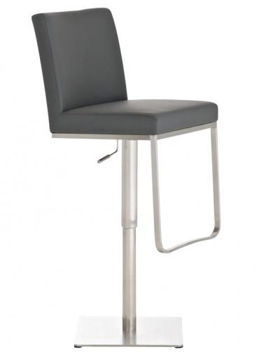 Barová židle s nerezovou podnoží Winnie, šedá