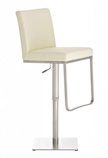 Barová židle s nerezovou podnoží Winnie, krémová