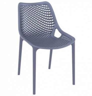 Designová jídelní židle stohovatelná Soufi, tmavě šedá