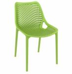 Designová jídelní židle stohovatelná Soufi, zelená