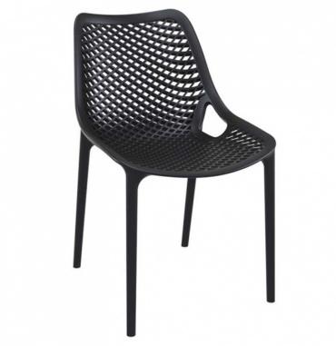 Designová jídelní židle stohovatelná Soufi, černá