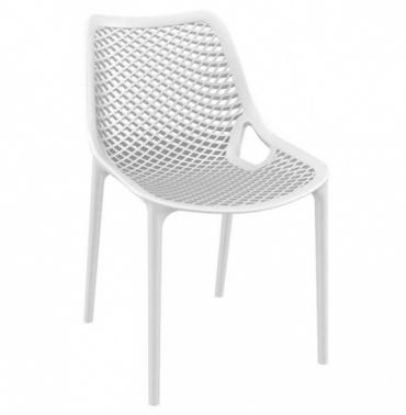 Designová jídelní židle stohovatelná Soufi, bílá