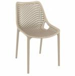 Designová jídelní židle stohovatelná Soufi, krémová