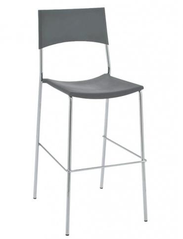 Barové židle Luone - SET 2 ks, šedé