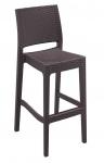 Venkovní barová židle Martini, hnědá